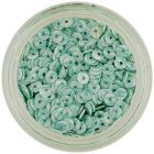 Nail decoration - mint coloured disk sequins with green stripes