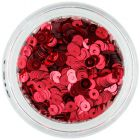 Burgundy sequin disks