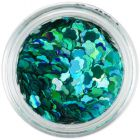 Nail decoration - turquoise green flower shaped confetti