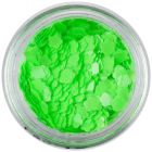 Decorative confetti - neon green flowers