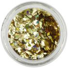 Gold flitters for aqua tips - diamonds, hologram