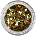Diamond confetti - deep gold, hologram