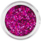 1mm holographic sequins - hexagons in cyclamen colour