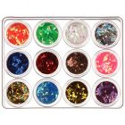 Nail art kit - diamonds 12x5g