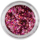 1mm confetti - holographic hexagons, pink