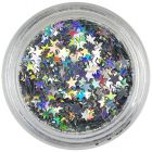Silver decorative stars - hologram
