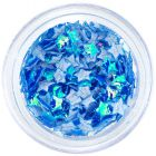 Fabric stars - blue opalescent colour
