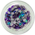 Dark purple opalescent decorations for nails - fabric stars