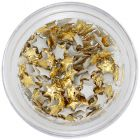 Gold decorations for nails - fabric stars