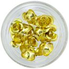 Gold ceramic roses, 10pcs