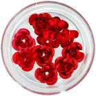 Ceramic nail decorations - red roses, 10pcs