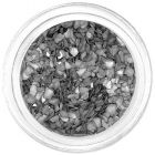 Silver metallic crushed shells