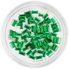Decorative rhinestones, rectangles - emerald green