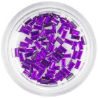Dark purple rhinestones for nails - rectangles