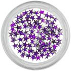 Dark purple rhinestones for nails - stars