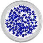 Royal blue rhinestones for nails - stars