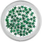 Dark green rhinestones, stars