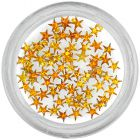 Decorative rhinestones, stars - orange