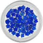 Royal blue rhinestones for nails - flowers