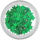 Emerald green rhinestones for nails - flowers
