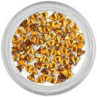 Decorative rhinestones, triangle - orange