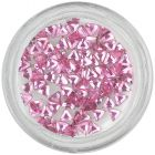 Light pink rhinestones for nails - triangle