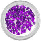 Decorative rhinestones, triangle - dark purple