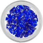 Royal blue rhinestones, triangle