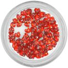 Red rhinestones for nails decoration - hearts
