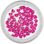 Pink rhinestones for nails decoration - hearts