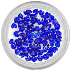 Royal blue rhinestones for nails decoration - hearts