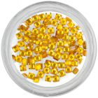 Square rhinestones - yellow