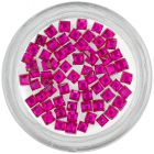Pink rhinestones for nails decoration - squares
