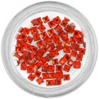 Rhinestones for nails - squares, red