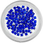 Rhinestones for nails - squares, royal blue