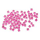 Cyclamen rhinestones for nails decoration - squares 70pcs