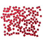 Red decorations for nails - rhinestones, squares 140pcs