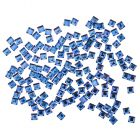 Rhinestones for nails - squares, blue 140pcs