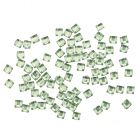 Square rhinestones - light green, 50pcs