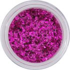 Asymmetric glitter flakes small – cyclamen