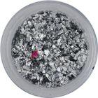Silver glitter flakes – small