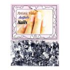 Nail decorations in silver colour - flakes