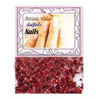 Glitters for nails, red colour