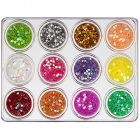 Stars - decorative nail art kit, 12pcs