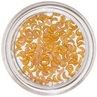Half-Moon Nail Decorations - Orange-Yellow, Pearl