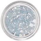 Light Blue Nail Art Decorations - Rectangles, Pearlescent