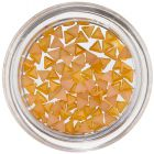 Triangles for Nail Decoration - Yellow-Orange, Pearl Effect