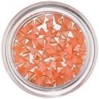 Orange Nail Art Decorations - Triangles, Pearlescent