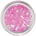 Pearl Decorations in Shape of Triangle - Pink