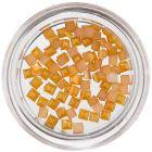 Nail Decoration Squares - Yellow-Orange, Pearl Effect